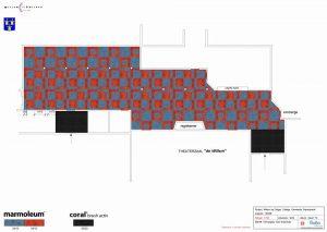 linoleum patroon 3 300x213 - Linoleum patroon van 500m2 in Papendrecht